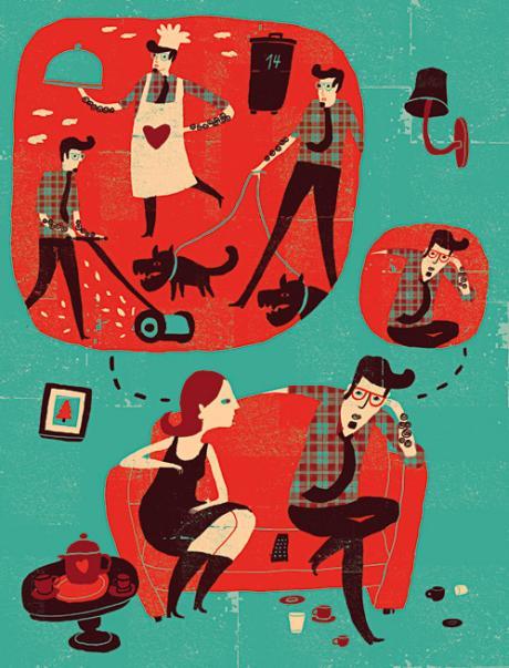 Személyiségek a házasságon belül - Papucsférj